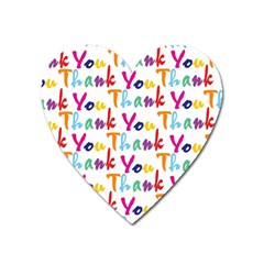 Wallpaper With The Words Thank You In Colorful Letters Heart Magnet by Simbadda