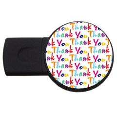 Wallpaper With The Words Thank You In Colorful Letters Usb Flash Drive Round (4 Gb) by Simbadda