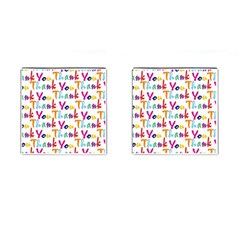 Wallpaper With The Words Thank You In Colorful Letters Cufflinks (square) by Simbadda