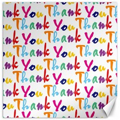 Wallpaper With The Words Thank You In Colorful Letters Canvas 16  X 16   by Simbadda