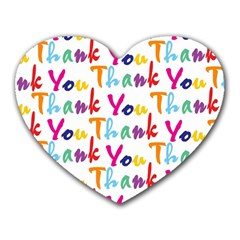 Wallpaper With The Words Thank You In Colorful Letters Heart Mousepads by Simbadda
