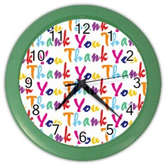 Wallpaper With The Words Thank You In Colorful Letters Color Wall Clocks by Simbadda