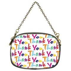 Wallpaper With The Words Thank You In Colorful Letters Chain Purses (two Sides)  by Simbadda