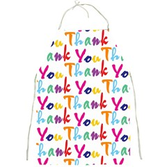Wallpaper With The Words Thank You In Colorful Letters Full Print Aprons by Simbadda