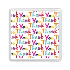 Wallpaper With The Words Thank You In Colorful Letters Memory Card Reader (square)  by Simbadda