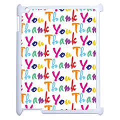 Wallpaper With The Words Thank You In Colorful Letters Apple Ipad 2 Case (white) by Simbadda