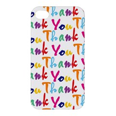 Wallpaper With The Words Thank You In Colorful Letters Apple Iphone 4/4s Hardshell Case by Simbadda