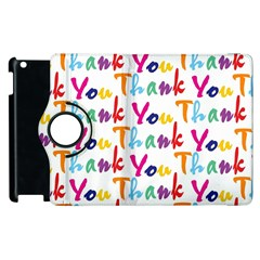 Wallpaper With The Words Thank You In Colorful Letters Apple Ipad 2 Flip 360 Case by Simbadda