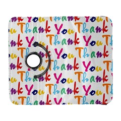 Wallpaper With The Words Thank You In Colorful Letters Galaxy S3 (flip/folio) by Simbadda