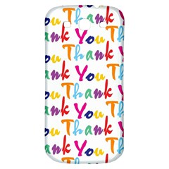 Wallpaper With The Words Thank You In Colorful Letters Samsung Galaxy S3 S Iii Classic Hardshell Back Case by Simbadda