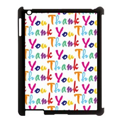 Wallpaper With The Words Thank You In Colorful Letters Apple Ipad 3/4 Case (black) by Simbadda