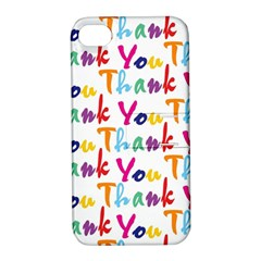 Wallpaper With The Words Thank You In Colorful Letters Apple Iphone 4/4s Hardshell Case With Stand by Simbadda