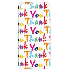 Wallpaper With The Words Thank You In Colorful Letters Apple Iphone 5 Hardshell Case With Stand by Simbadda