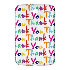 Wallpaper With The Words Thank You In Colorful Letters Samsung Galaxy Note 8 0 N5100 Hardshell Case  by Simbadda