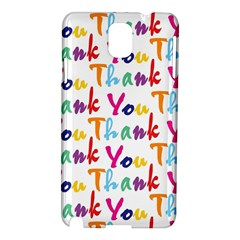 Wallpaper With The Words Thank You In Colorful Letters Samsung Galaxy Note 3 N9005 Hardshell Case by Simbadda