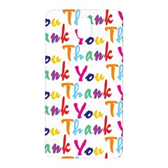 Wallpaper With The Words Thank You In Colorful Letters Samsung Galaxy Note 3 N9005 Hardshell Back Case by Simbadda