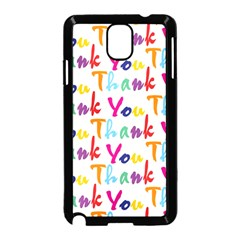 Wallpaper With The Words Thank You In Colorful Letters Samsung Galaxy Note 3 Neo Hardshell Case (Black)