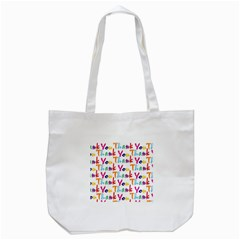Wallpaper With The Words Thank You In Colorful Letters Tote Bag (white) by Simbadda