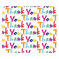 Wallpaper With The Words Thank You In Colorful Letters Double Sided Flano Blanket (small)  by Simbadda