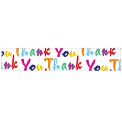 Wallpaper With The Words Thank You In Colorful Letters Flano Scarf (large)