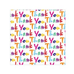 Wallpaper With The Words Thank You In Colorful Letters Small Satin Scarf (square) by Simbadda