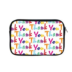 Wallpaper With The Words Thank You In Colorful Letters Apple Macbook Pro 13  Zipper Case by Simbadda