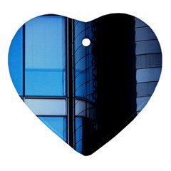 Modern Office Window Architecture Detail Ornament (heart) by Simbadda