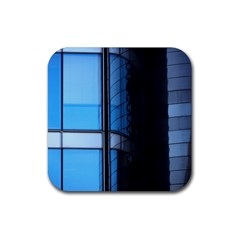 Modern Office Window Architecture Detail Rubber Square Coaster (4 Pack)  by Simbadda