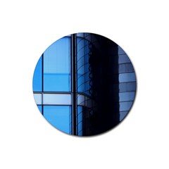 Modern Office Window Architecture Detail Rubber Coaster (round)  by Simbadda