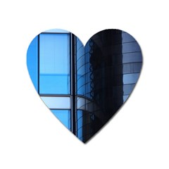 Modern Office Window Architecture Detail Heart Magnet by Simbadda