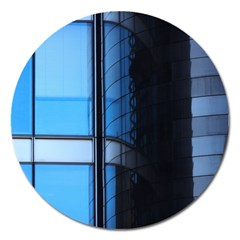 Modern Office Window Architecture Detail Magnet 5  (round) by Simbadda