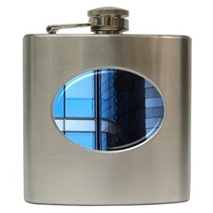 Modern Office Window Architecture Detail Hip Flask (6 Oz) by Simbadda