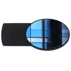 Modern Office Window Architecture Detail Usb Flash Drive Oval (4 Gb) by Simbadda