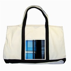 Modern Office Window Architecture Detail Two Tone Tote Bag by Simbadda