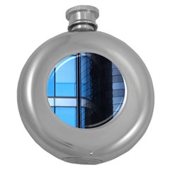 Modern Office Window Architecture Detail Round Hip Flask (5 Oz) by Simbadda