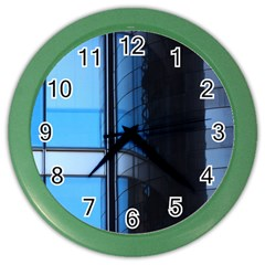 Modern Office Window Architecture Detail Color Wall Clocks by Simbadda