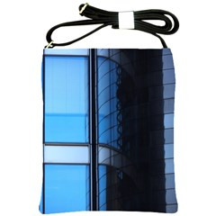 Modern Office Window Architecture Detail Shoulder Sling Bags by Simbadda