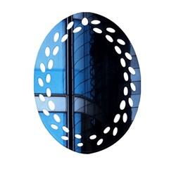 Modern Office Window Architecture Detail Oval Filigree Ornament (two Sides) by Simbadda