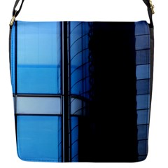 Modern Office Window Architecture Detail Flap Messenger Bag (s) by Simbadda