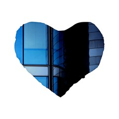 Modern Office Window Architecture Detail Standard 16  Premium Flano Heart Shape Cushions by Simbadda