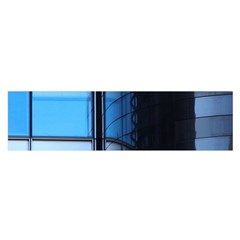 Modern Office Window Architecture Detail Satin Scarf (oblong) by Simbadda
