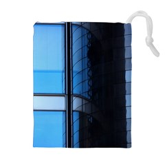 Modern Office Window Architecture Detail Drawstring Pouches (extra Large) by Simbadda