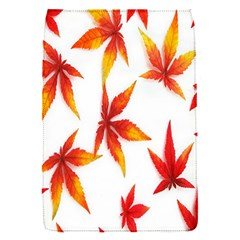 Colorful Autumn Leaves On White Background Flap Covers (s)  by Simbadda