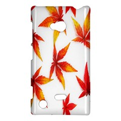 Colorful Autumn Leaves On White Background Nokia Lumia 720 by Simbadda