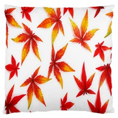 Colorful Autumn Leaves On White Background Standard Flano Cushion Case (two Sides) by Simbadda