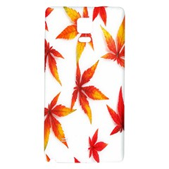 Colorful Autumn Leaves On White Background Galaxy Note 4 Back Case