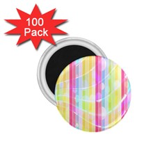 Colorful Abstract Stripes Circles And Waves Wallpaper Background 1 75  Magnets (100 Pack)  by Simbadda
