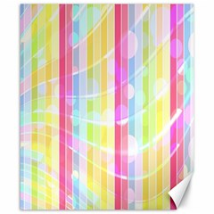 Colorful Abstract Stripes Circles And Waves Wallpaper Background Canvas 8  X 10  by Simbadda