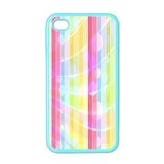 Colorful Abstract Stripes Circles And Waves Wallpaper Background Apple Iphone 4 Case (color) by Simbadda