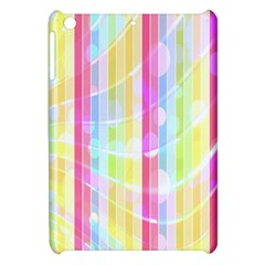 Colorful Abstract Stripes Circles And Waves Wallpaper Background Apple Ipad Mini Hardshell Case by Simbadda